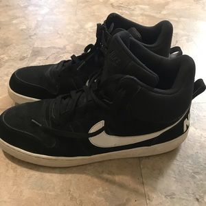 Nike Black High Tops. Size 14. Cloth.